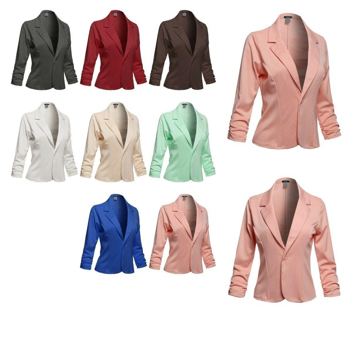 women s casual solid one button classic