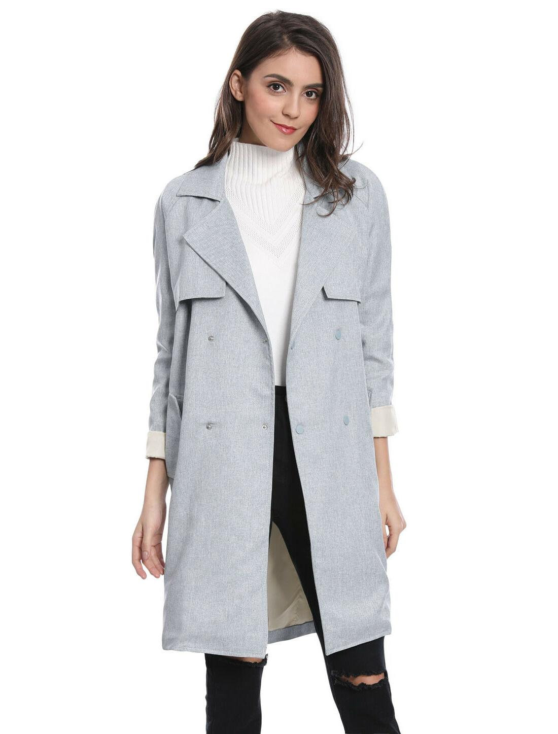 women s double breasted raglan sleeve trench