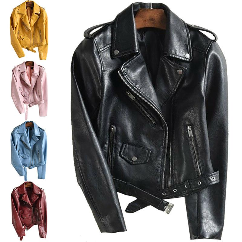 Women's Zip Up Bomber Biker Coat Flight Outwear