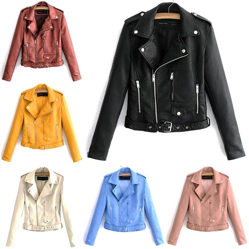 Women's Bomber Casual Flight Leather Outwear