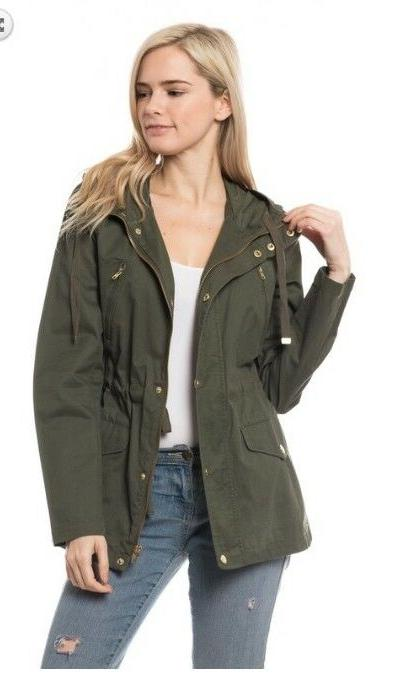 Women's Jacket Pockets Hood Coats