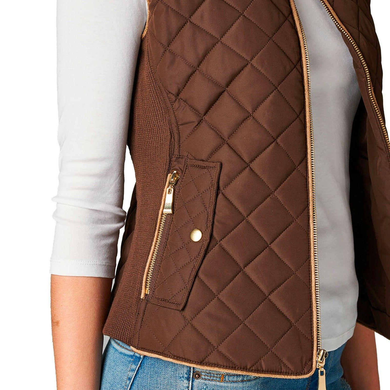 Women's Quilted Padding Vest Jacket Lightweight Outwear