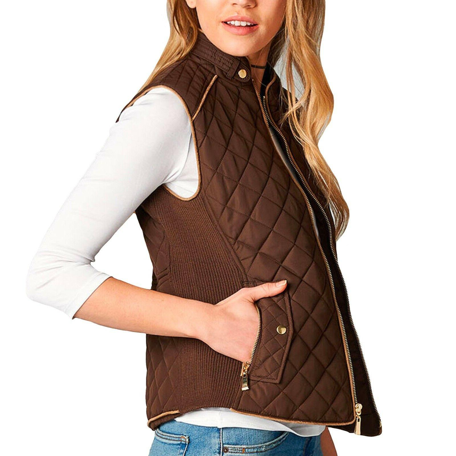 Women's Padding Vest Jacket Quilted Outwear