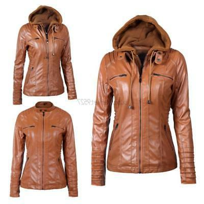Ladies Overcoat Biker Outwear