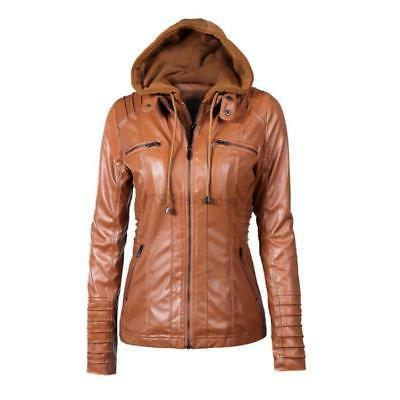 Ladies Bomber Biker Outwear Hooded Parka