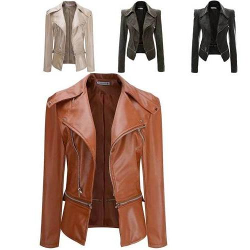 women s slim fit motorcycle biker leather