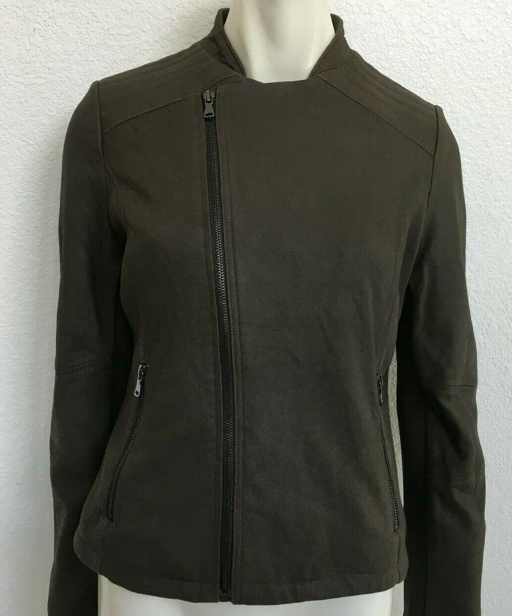 Women's Leather Zipper Taupe NWOT by Lark Ro