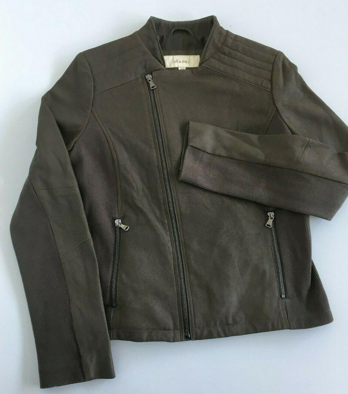 women s small moto inspired leather zipper