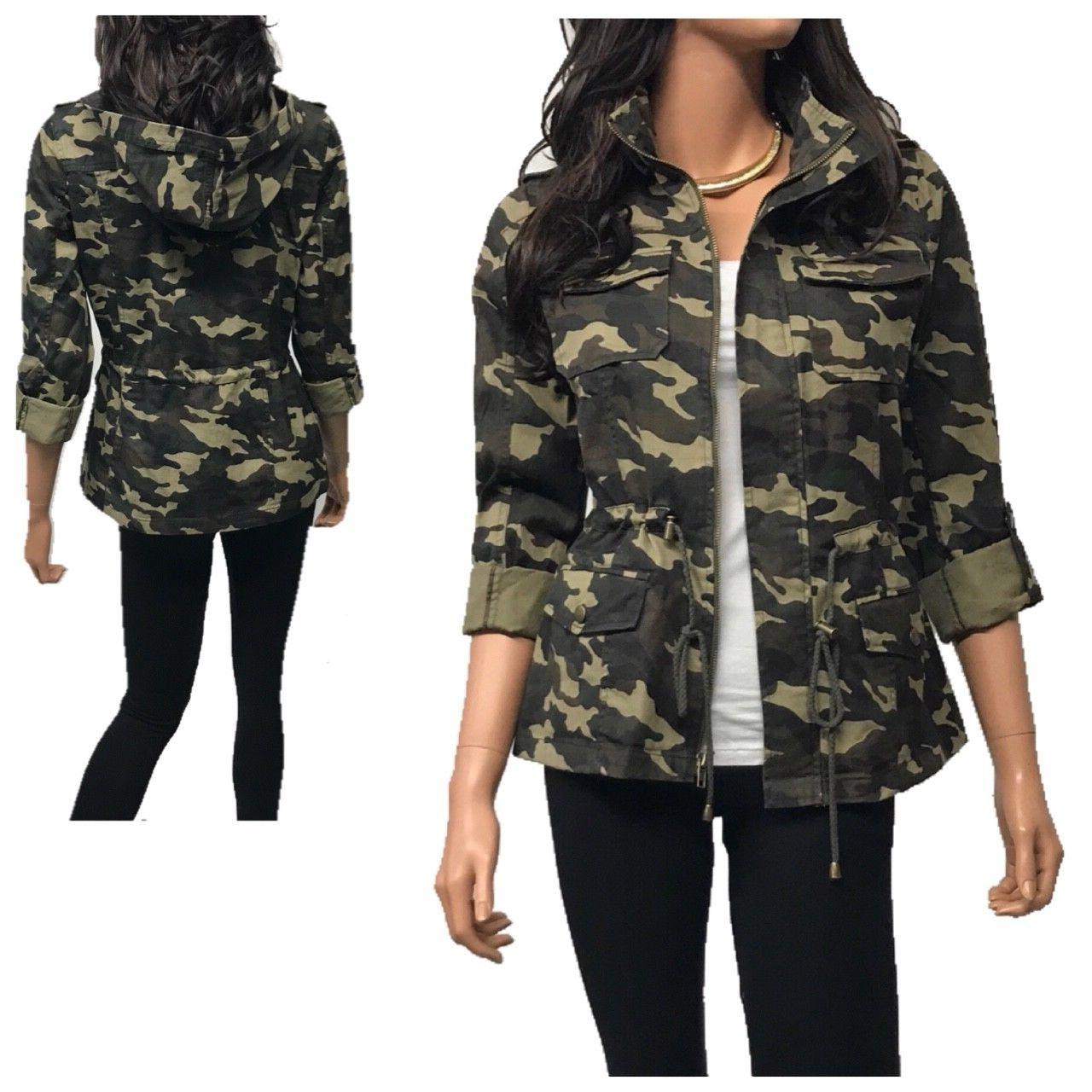 women s utility anorak military camo hooded