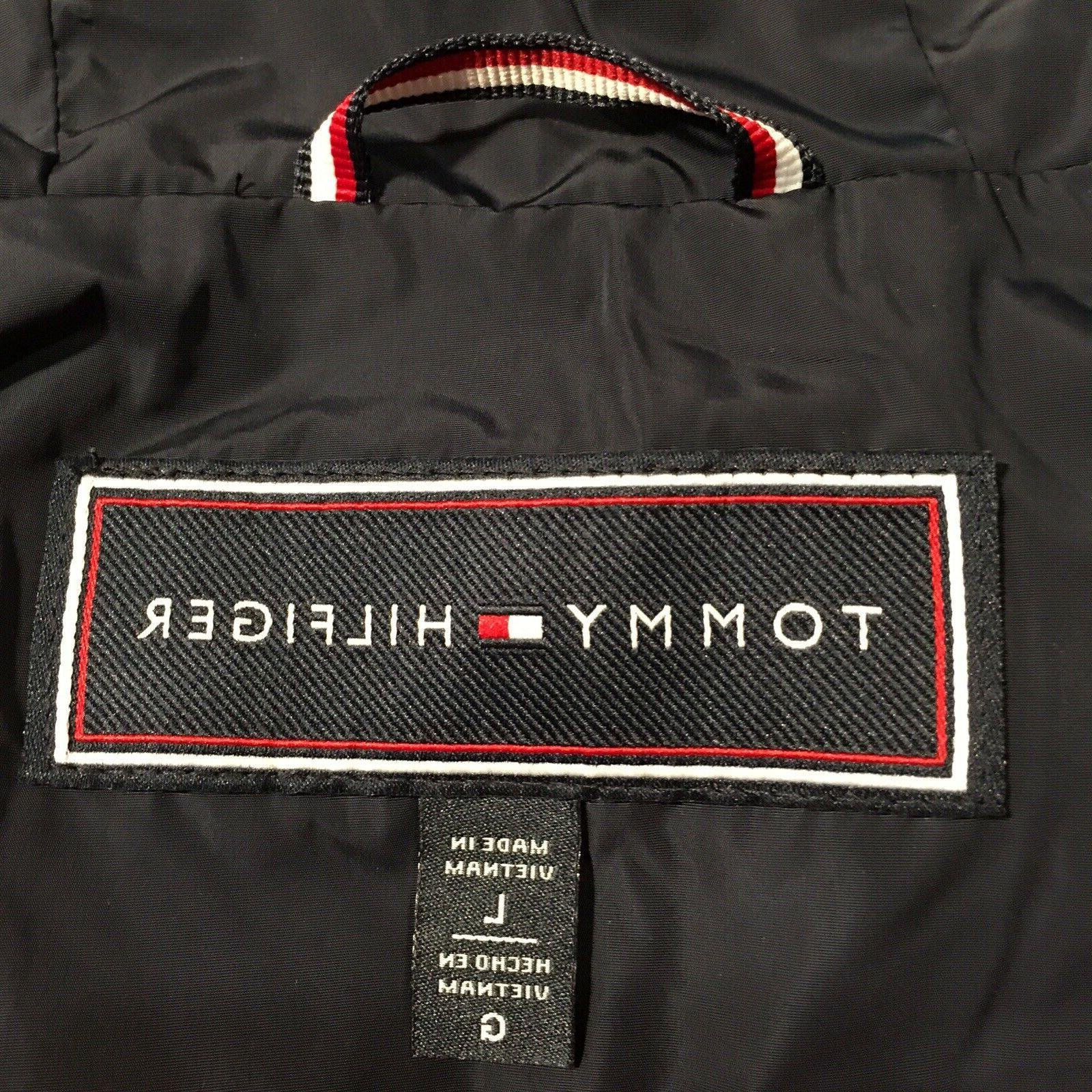 Tommy Hooded Jacket New Full Zip Water Resistant