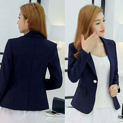 Women Slim One Button Business Jacket Coat Hot