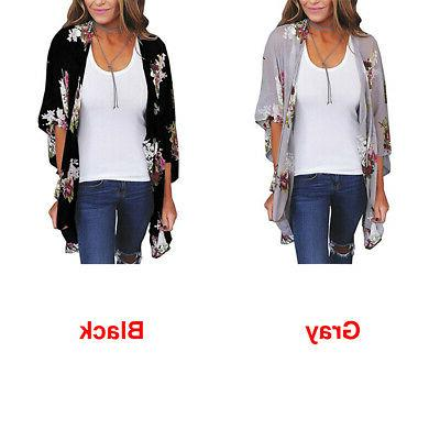 Women Shawl Long Kimono Top Jacket Shirt US
