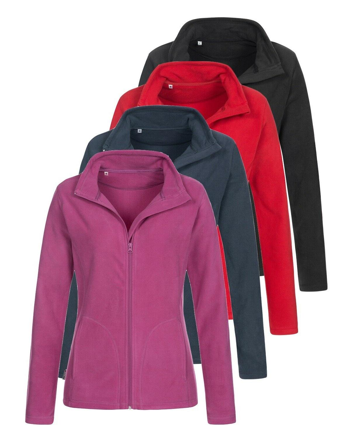 Womens Ladies BLACK RED BLUE Breathable Lightweight Full Zip