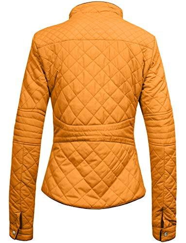 NE PEOPLE Quilted Jacket-MUSTARD-2XL