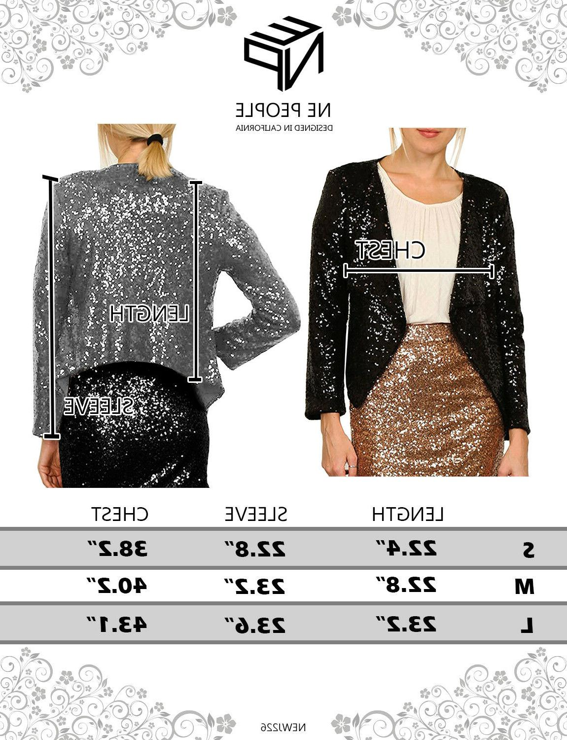 NE PEOPLE Sequin Long Blazer Jacket