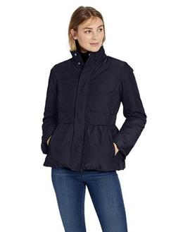 Lark & Ro Women's Peplum Puffer Jacket Light Weight Primalof