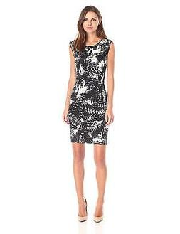 Lark & Ro Women's Sleeveless Printed Sheath Dress