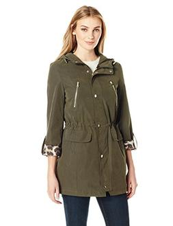 Lark & Ro Women's Utility Jacket, New Olive, M
