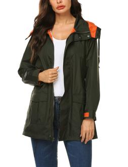 Lightweight Coats For Women Plus Size Windbreaker Rain Jacke