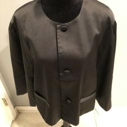 Linea By Louis Dell'Olio Jacket Top Button Front Pleated B