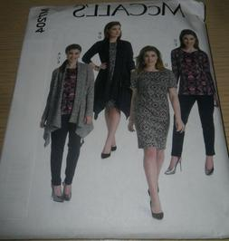McCall's Pattern M7204 ~ Women's Jacket, Top, Dress and Pant
