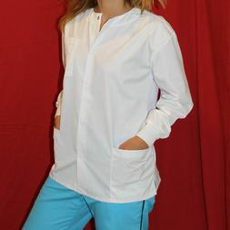 Medical MD Nursing Long Sleeve Scrubs Warmup Jacket XS-S-M-L