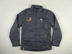 Miami Hurricanes adidas Winter Jacket Women's Gray Climastor