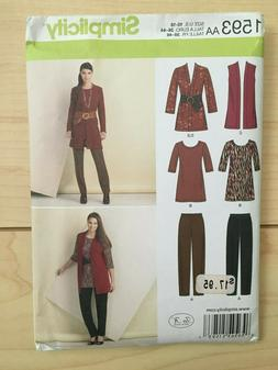 Simplicity Misses/Women Pattern for Pants, Tunic, Jacket, Ve