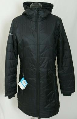 New Columbia Mighty Lite Hooded Quilted Omni-Heat Black Jack