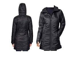 NEW Women Columbia Mighty Lite Hooded repellent long Jacket
