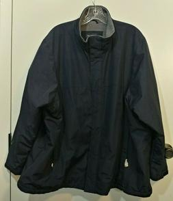 NWOT LANDS END Dark Blue WOMANS Rain Windbreaker Lined Jacke