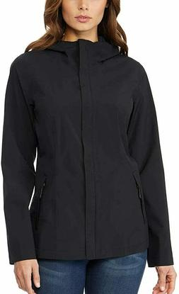 NWT 32 Degrees Cool Women's Waterproof Rain Jacket-BLACK   V