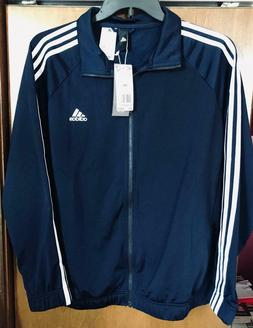 NWT Ladies Women's Adidas 3 Stripe Navy Jacket TrackTop 2XL
