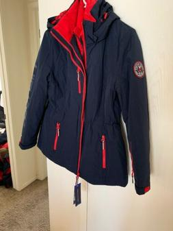 NWT Tommy Hilfiger Women's 3-in-1 Systems Jacket Navy LARGE