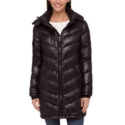 NWT Women's Black ANDREW MARC Packable Lightweight down JACK