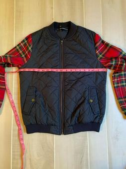 NWT  WOMEN'S  ALLEGRA K BLUE WITH RED  PLAID JACKET SIZE SMA