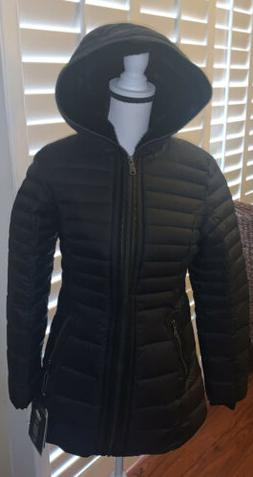 NWT Women's Pajar Jayde Hooded Down Parka Jacket   Black Siz