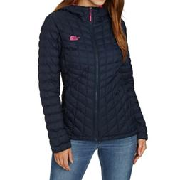 NWT The North Face Women ThermoBall Hooded Jacket Urban Navy