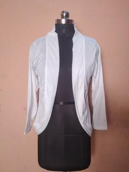 On Sale 4 Days Delivery Readymade Women's White Cotton Jacke