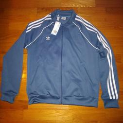 adidas Originals Women's SST Track Jacket Dark Steel Size