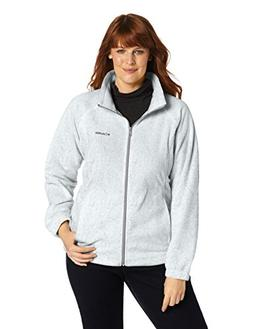 Columbia Women's Plus-Size Benton Springs Full Zip, Light Gr