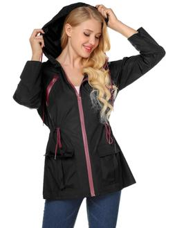 LOMON Rain Jacket for Women Rain Coat Plus Size Rain Jackets