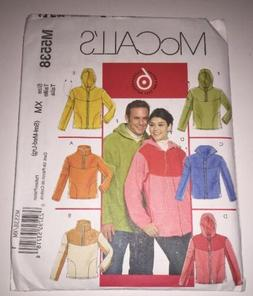 McCall's Sewing Pattern 5538 Misses'/Men's Jacket and Tops S