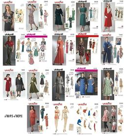Simplicity Sewing Patterns Misses' Retro Vintage 1930s 1940s
