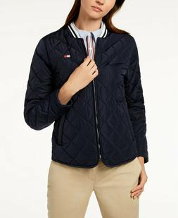 Tommy Hilfiger Sport Womens Quilted Winter Jacket Long Sleev