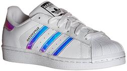 adidas Originals Kids' Superstar, White/White/Metallic Silve