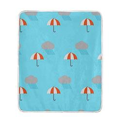 Bettyyd Uriahhd Umbrella Falling from The Sky Blanket Helps