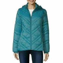 Xersion Water Resistant Puffer Jacket Hooded Lightweight Tal