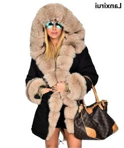 Woman High Quality Luxury Fur Collar Parkas Winter Warm <fon