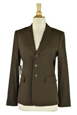 Tahari Women Coats & Jackets Blazers 4 Brown Wool